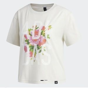 Adidas Floral Graphic Tshirt Women's Size XL